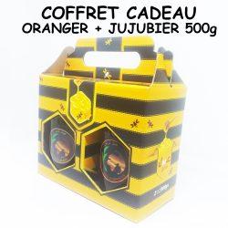عسل السدر - عسل البرتقال COFFRET CADEAU JUJUBIER 500g - ORANGER 500g