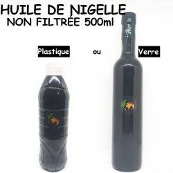 زيت حبة السوداء غير مصفي Huile de nigelle Non filtrée - 500mL