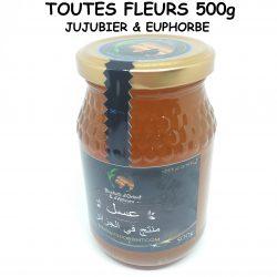عسل كل الأزهار - (السدر - اللبينة)- TOUTES FLEURS (JUJUBIER - EUPHORBE) - 500g