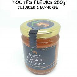 عسل كل الأزهار - (السدر - اللبينة)- TOUTES FLEURS (JUJUBIER - EUPHORBE) - 250g